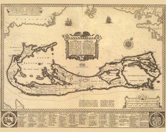 Vintage Map - Bermuda, 1626