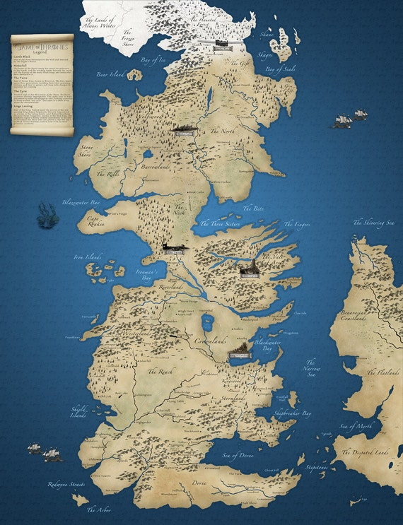 Game Of Thrones Map On Sale Now: Detailed Game Of Thrones Map At Slyspyder.com