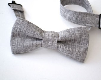 Bowtie Boys Ages 2-10 in Light Gray
