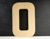 DIY Paper Mache Number Zero 0 (8 inches tall) - Ready to Decorate Blank Number | Home Decor | DIY Wedding Table Number