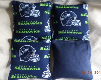 Cornhole Bags Seattle Seahawks Corn Hole Bean 4 ACA Regulation Toss Bag Game