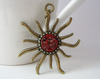 Sun Pendant with Free Necklace