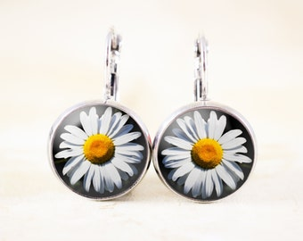 Daisy Flower Earrings - Wildflower Jewelry Earrings