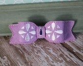 Sofia the First Inspired Hair Bow- Embroidered Wool Felt