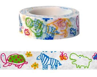Kids Zoo Washi Tape (10M) - 9327904