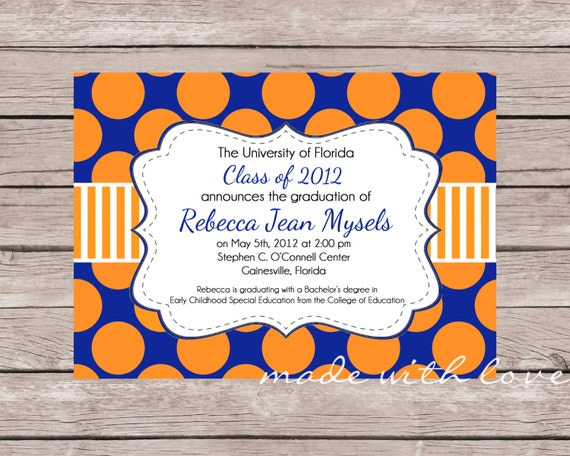 The Graduate- Graduation Announcement or Party Invitation, personalized and printable, 5x7