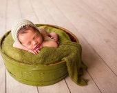 Sage Green and Ivory Bonnet Photo Prop for boy or girl