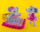 Combo Pack - Elephant Lovey and Amigurumi Set for 5.99 Dollars - PDF Crochet Pattern - Instant Download - Special Offer Pattern Pack Animal