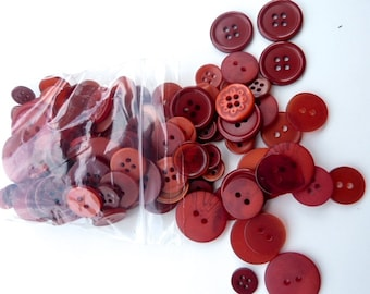 Red 50g Button Bag
