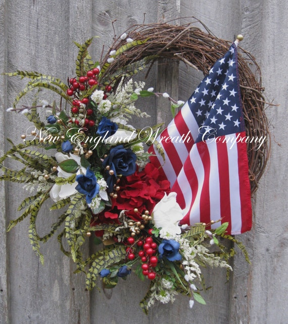 Fourth Of July Grapevine Wreath