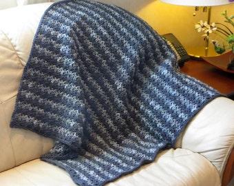 "Lap Blanket - Shades of Gray - 33"" x 37"" - Stadium Wheelchair Blanket - Baby Reading Chair Blanket - Baby Man Woman Blanket - Item 4136"