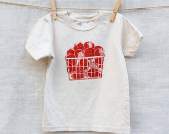 Strawberry Basket Organic Cotton Kids Tee