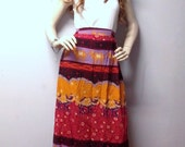 Gorgeous Colorful  skirt with Camels Vintage 90's  Sz  Small