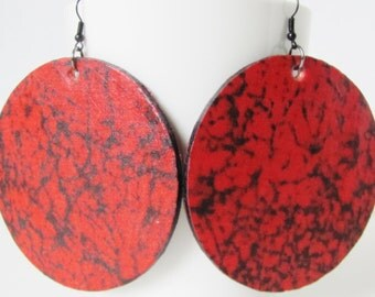 Red Earrings Red Jewelry Afrocentric Jewelry Afrocentric Earrings Bohemian Earrings Ethnic Jewelry Boho Chic Jewelry Women Jewelry Gift