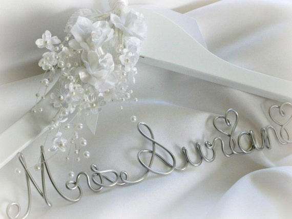 items similar to fancy bride hanger for amazing dress