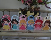Fairy Tale  Inspired Princess Gable Favor Boxes with Tags Set of 12
