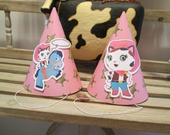 Sheriff Callie Inspired Party Hats Set of 12