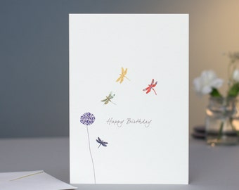 Dragonflies Birthday Card
