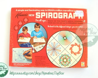 CLEARANCE Spirograph: Vintage 1960s Toy Nearly Complete Set