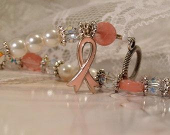 Swarovski Crystal Cancer Awareness Bracelet