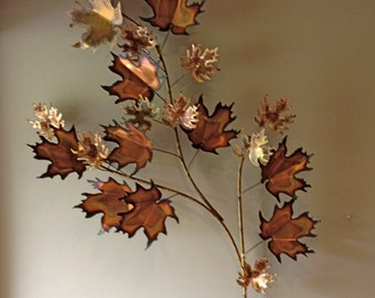 Curtis Jere Signed Branch of Leaves