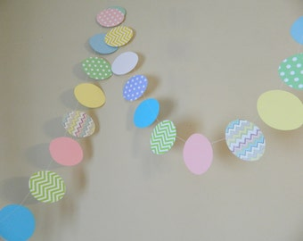 Easter Egg Garland- Easter Decorations- Classroom Decor- Easter Photo Prop