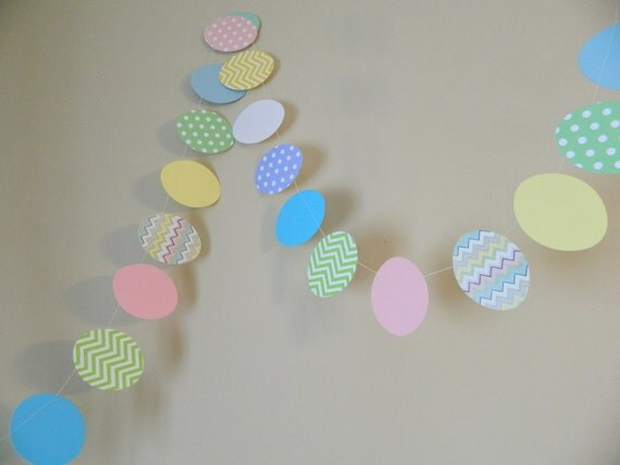 Easter Classroom Decor : Easter egg garland decorations classroom decor