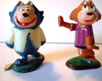 Vintage 1961 TV Tinykins of Benny the Ball and Brain from Top Cat, Collectibles, Classic Cartoons, Gift for Her, Gift for Him, Christmas