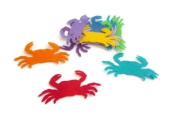 Felt crab die cut shapes sea creatures felt animals pre cut shapes