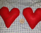 Pin Cushion Heart Felt Sewing Needle Craft Accessory Valentines Costume Gift Present