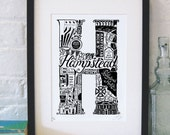 Best of Hampstead limited edition screenprint // London Letters series