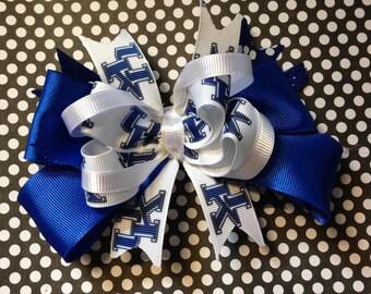University Of Kentucky Wildcats Sports Hair Bow