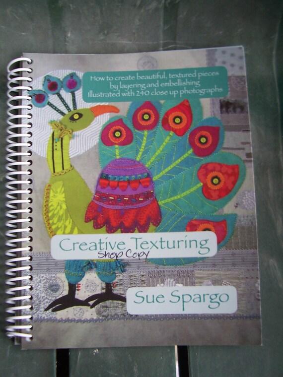 Libro de textura creativa de Sue Spargo por lavendersugarplum