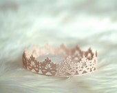 Newborn Crown, Sweetest Little Flowers and Bows Lace Crown, Newborn Photography Prop, Baby Crown, Infant Crown, Pink, Blue,Silver, Gold