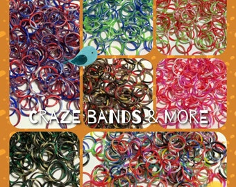 NEW Style Wholesale 1800 Loom Rubber bands Refill Swirly Camouflage Tie Dye Color fit any Loom Red White Green Pink Black Yellow Brown Craft