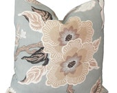 Schumacher Mineral Hot House Floral Decorative Pillow Covers 18x18, 20x20 or 22x22, 14x20 or 12x24