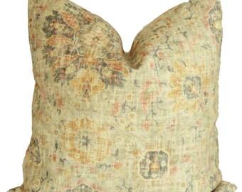 Kilim Pattern Antique Pastel Velvet Decorative Pillow Cover, 18x18, 20x20, 22x22 or lumbar pillow Throw Pillow, Accent Pillow, Toss Pillow