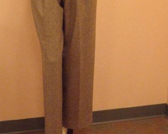 Courreges wide leg tweed slacks