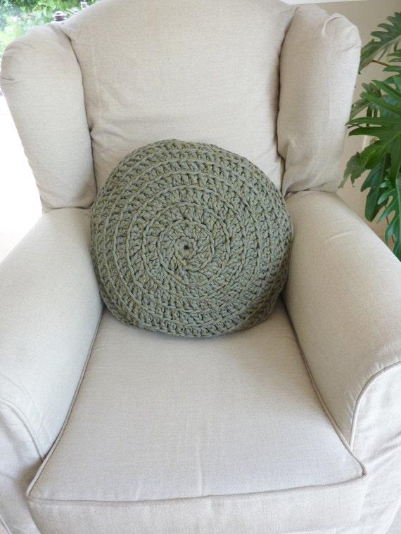 Crochet pillow  round pillow crochet cushion