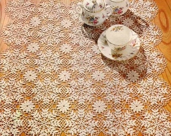 crochet doily, table decoration, center piece  PATTERN (chart with instractions)