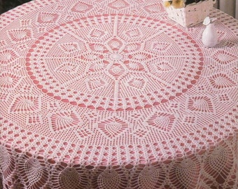 crochet doily, table decoration, center piece  PATTERN   (chart with  explanations )