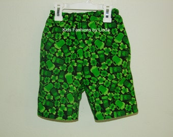 St Patrick Day Shorts with Pockets