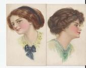 Antique E. Nash Postcards Mint Condition Series 89 Lot of 2 Victorians