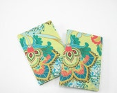 Week in View A6 Diary 2014, yellow emerald green coral pink red, boho bohemian floral weekly planner