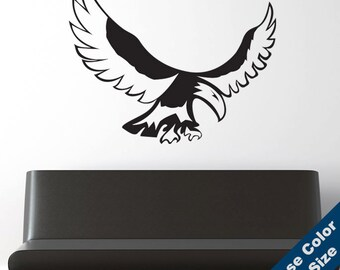 Native American Eagle Wall Decal - Vinyl Sticker - Free Shipping