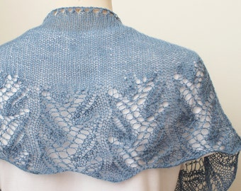 Knitting Pattern Scarf, Something Blue Shawl