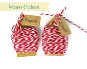 READY TO SHIP | Red bakers twine cotton thread Wrapping cotton floss cord gift wrap. 20 yards. More Colors