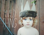 Where The Wild Things Are Crown - Felt Crown Photo Prop - Infant Tiara - Fairytale - Faux Fur - King - Unisex - Boys Crown - Toddler