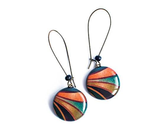 Abstract dangle earings, boho jewelry, bohemian earrings,
