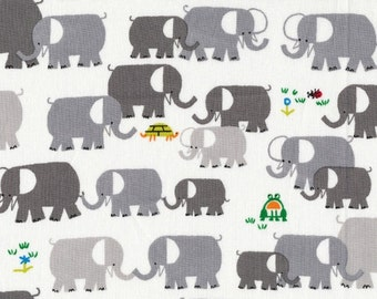 Happy Drawing - Elephants - Organic by Ed Emberley from Cloud 9 Fabrics